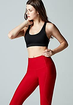 Tesla Tm-fyp54-red_small Yoga Pants High-waist Leggings W Side Pockets Fyp54 4