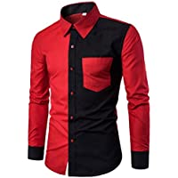 Zulmaliu Men Tee Shirt, Long Sleeve Western Plaid Snap Buttons Shirt