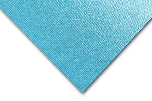 Premium Pearlized Metallic Textured Splash Blue Card Stock 20 Sheets - Matches Martha Stewart Splash - Great for Scrapbooking, Crafts, Flat Cards, DIY Projects, Etc. (8.5 x 11) ()