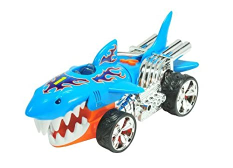 Hot Wheels 90512 Coche con luz y sonidos SharkRuiser (Extreme Action)
