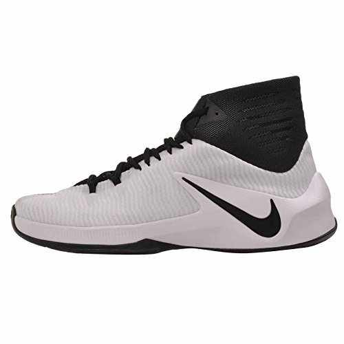 NIKE Men's Zoom Clear Out TB Basketball Shoes 844372 001 White Black Size 11