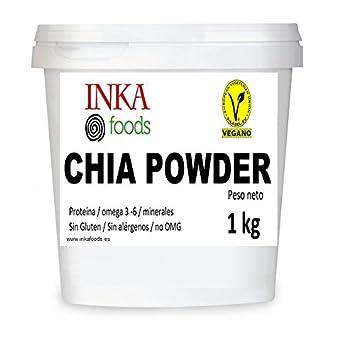Harina de semilla de chia, no desgrasada 1 kg: Amazon.es ...