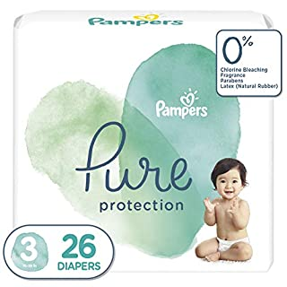 Diapers Size 3, 26 Count - Pampers Pure Protection Disposable Baby Diapers, Jumbo Pack