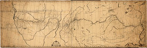 Map Poster - A map of the discoveries of Capt. Lewis & Clark from the Rockey Mountain and the River Lewis to the Cap of Disappointement or the Coloumbia River at the north Pacific Ocean / 24 X 8.5