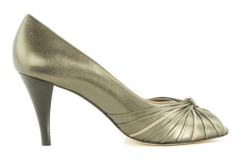 Arturo Chiang Vrouwen Pricilla Peeptoe Van Tin / Taupe Metallic