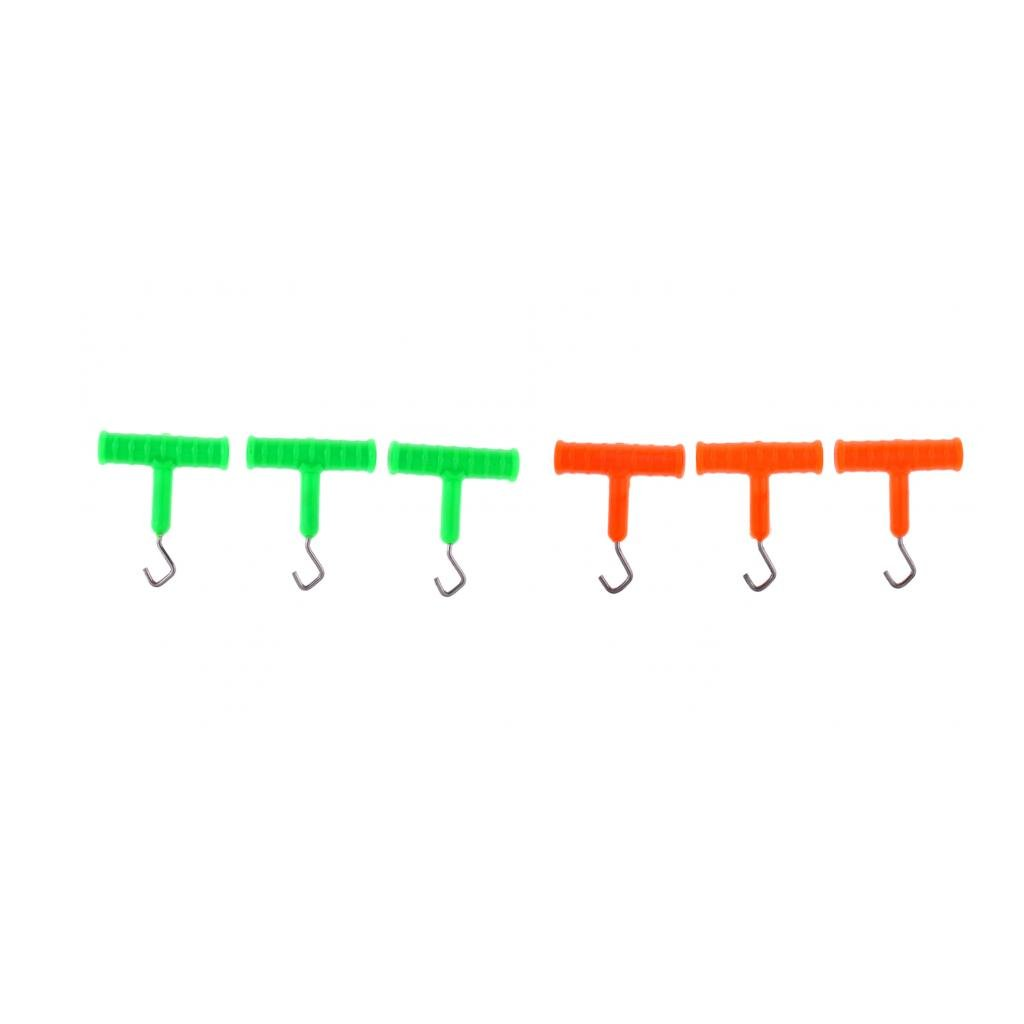 6Pcs Knot Rig Puller Knot Tool Tester Tightener for Carp Fishing Rig Tackles