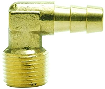 """MettleAir ID 3/8"""" NPT Male Barb Hose/Tubing Fitting Elbow L Connector"""