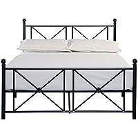 Homelegance Mardelle Tranditional Metal Platform Bed - Full Size, Black