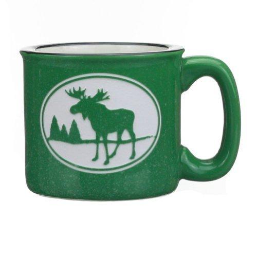 Green Moose (Cape Shore Green Etched Moose 15 Ounce Coffee Tea Mug Cup)