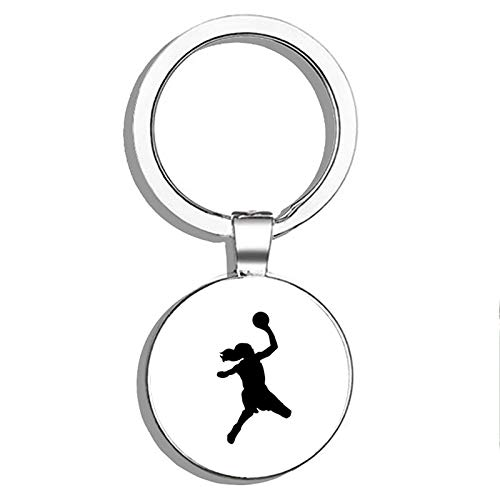 PRS Vinyl Basketball Player Shooting Lefthanded Double Sided Stainless Steel Keychain Key Ring Chain Holder Car/Key Finder (The Best Left Handed Basketball Player)