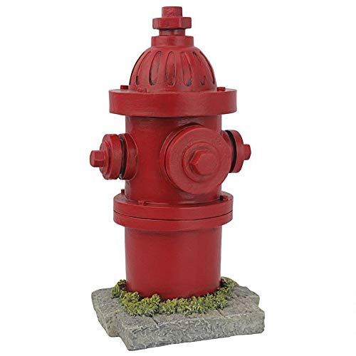 Design Toscano QL5992 Dogs Second Best Friend Fire Hydrant Statue, Full Color