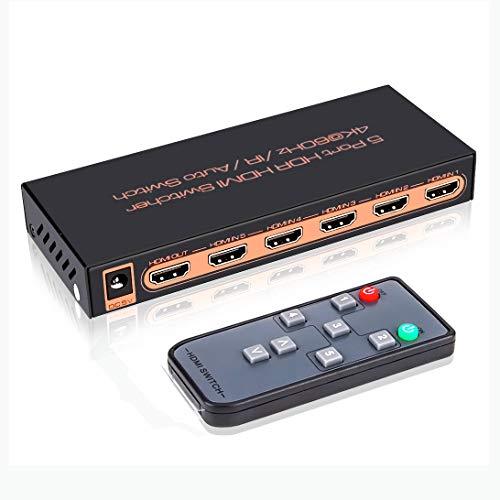 4K@60Hz HDMI 2.0 Switch 5x1
