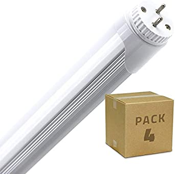 LEDKIA LIGHTING Pack Tubo LED T8 1500mm Conexión un Lateral 24W (4 un) Blanco Neutro 4000K - 4500K: Amazon.es: Iluminación