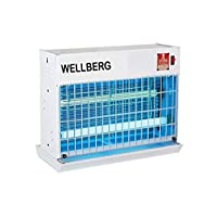 WELLBERG Slim Flying Insect Killer 20 WATT Uv Tubes - Catcher - Model No - WB54153 Bug Zapper with HIGH Voltage Current Rectifier