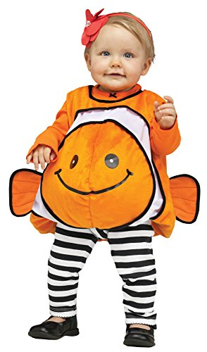 Fun World Costumes Baby's Giddy Goldfish Infant Costume, Orange/Gold, One Size (Infant Goldfish Costume)