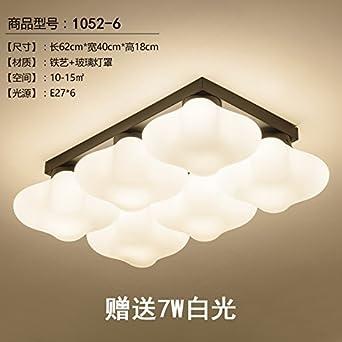 Einfache Ideen Wohnzimmer Deckenleuchten Warm Led Schlafzimmer Leuchten  Bibliothek Kinder Raumbeleuchtung, 6 Köpfe Mit LED