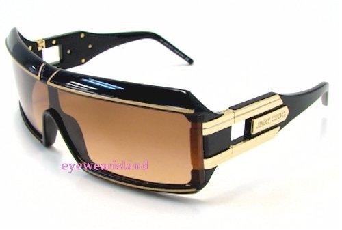 908865698a3 JIMMY CHOO Spark S SparkS Black Gold NSX Frame Sunglasses  Amazon.co.uk   Clothing