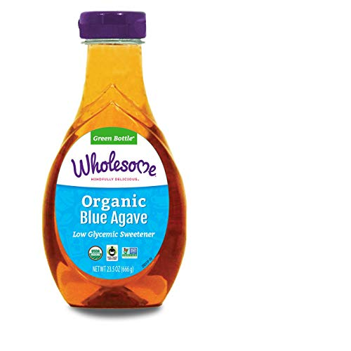 Wholesome Organic Blue Agave Nectar, Syrup, Low Glycemic Sweetener, Non GMO, 23.5 oz (Pack of ()