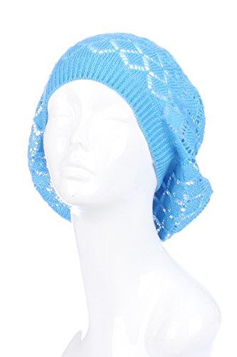BSB Womens Lightweight Cut Out Knit Beanie Beret Cap Crochet Hat – Many Styles