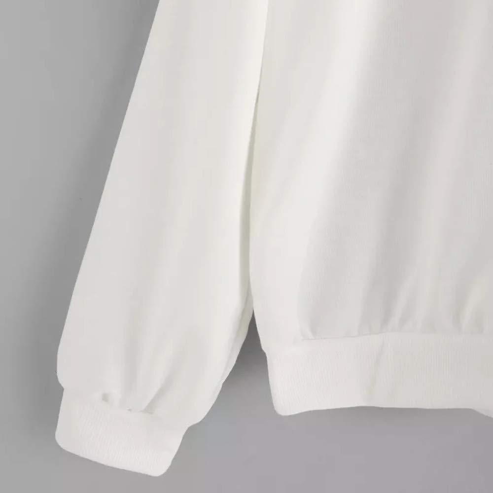 Inverlee Womens Hoodie Letter Flag Printed Sweatshirt Long Sleeve Pullover Tops Blouse