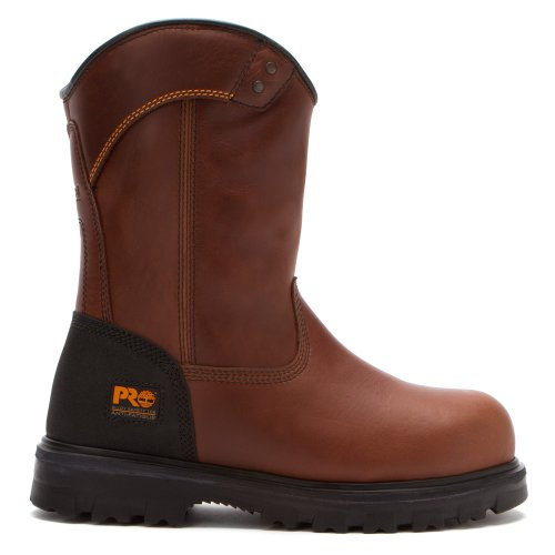 Timberland Mens Boomtown Wellington Safety Toe Bruin