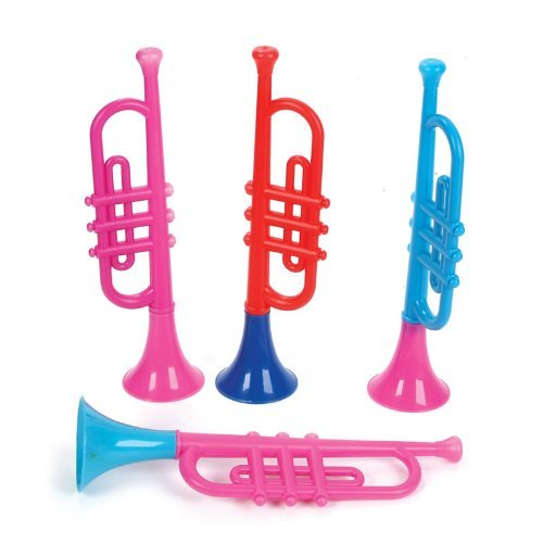 Kids Plastic Trumpets (1 dz) by Rhode Island Novelty