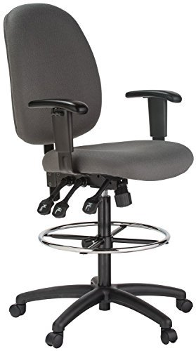 Harwick Grey Fabric Ergonomic Adjustable Drafting Chair by Harwick