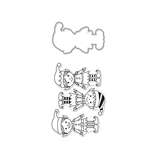 Hero Arts DC160 Santa's Elves Stamp & Cut Die by Hero Arts