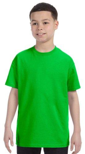 gildan-youth-heavy-cotton-t-shirt-electric-green-small