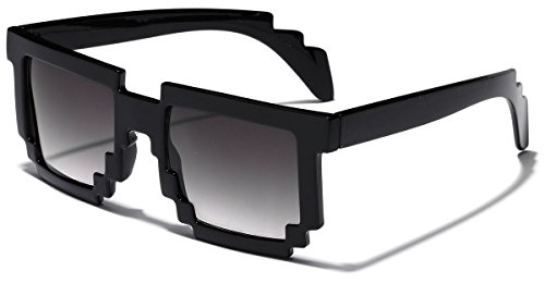 8 Bit Square Pixel Nerd Gamer Glasses Retro Novelty - Sunglasses Bit 8