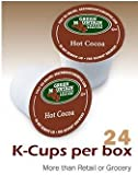 Green Mountain Hot Cocoa, Chocolate K-Cups for Keurig Brewer, 24 ct with 2 Organic Green Tea Bags