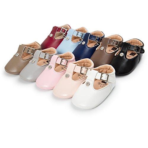 Meckior Infant Toddler Baby Girls Soft Sole Dress Mary Jane Princess Shoes Prewalker Party Shoes