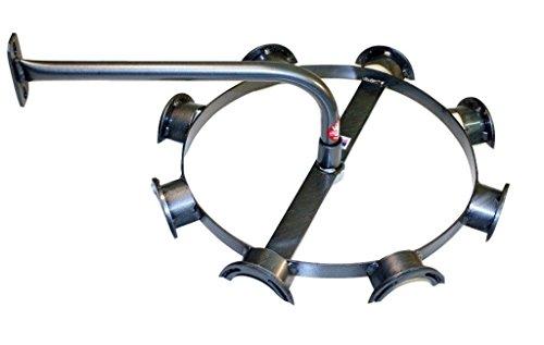Equiracks Headstall Rack Rotary Horseshoe 8 Hook Steel Gray DHSR8A by Equi-Racks