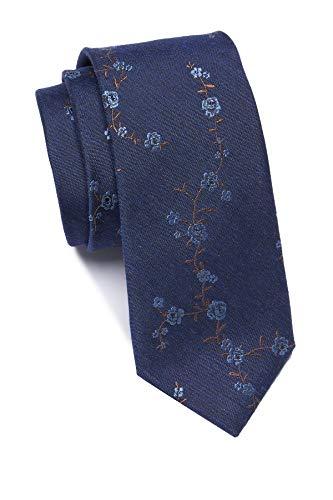 Ben Sherman Lionel Floral Tie - Blue