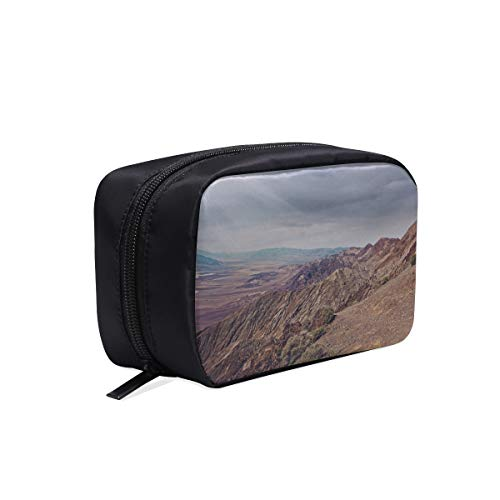 Your Home Makeup Case Bag California Desert Hills Mountains Appropriate Capacity Portable Beauty Girl And Women Cosmetic Bags Storage Bags For ()
