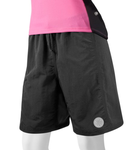 ATD Women's Loose Fit Mountain Bike Shorts - Black Small