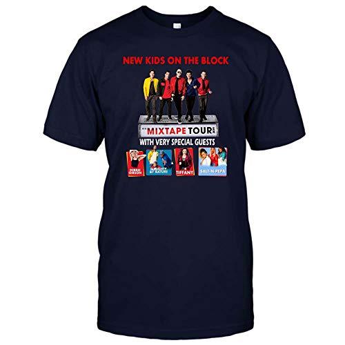New Kids On The Block Mixtape Tour T Shirt 2019 NKOTB Shirt Hoodie for Men Women (Unisex T-Shirt;Navy;3XL)