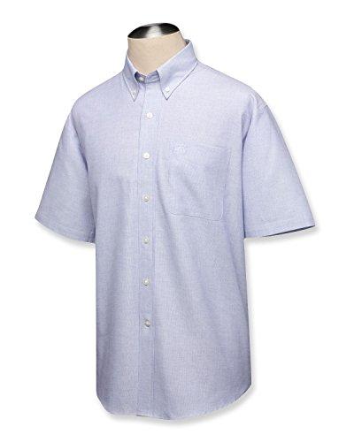 Cutter & Buck BCW04399 Mens S/S Nailshead Woven Shirt, (Nailshead Woven Shirt)