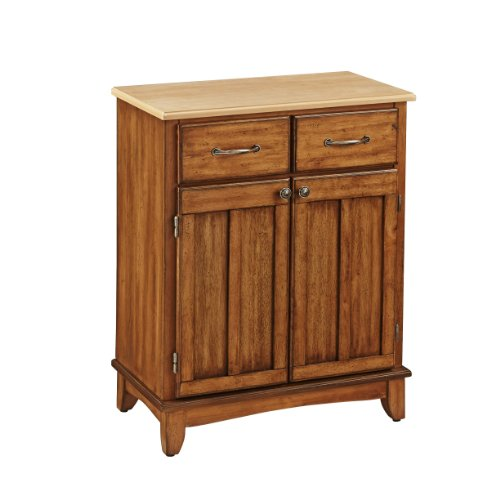 Buffet of Buffet Cottage Oak with Wood Top by Home Styles
