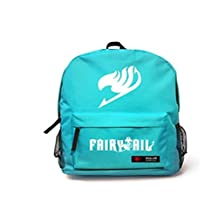 7 Weapons Fairy Tail Natsu Magic Guild Logo Unisex School Bag Backpack (Blue)