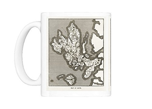 Mug of Map of the Isle of Skye, Scotland Victorian Engraving, 1840 ()