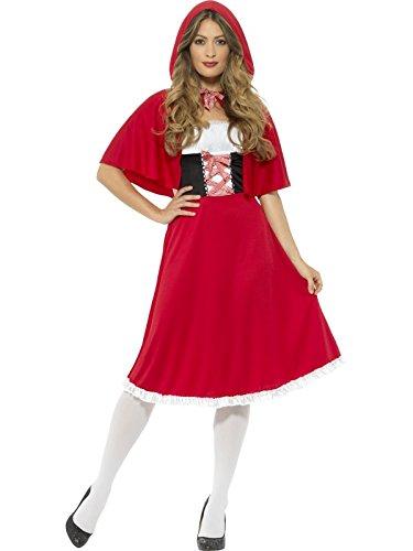 Smiffy's Women's Riding Hood Costume, Red, Medium/M
