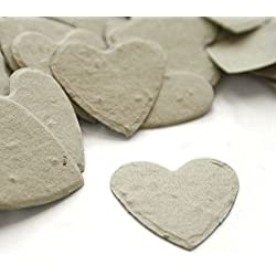 Heart Shaped Plantable Seed Confetti (Dove Grey) - 350 pieces/bag