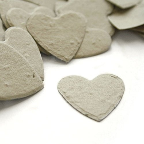 (Heart Shaped Plantable Seed Confetti (Dove Grey) - 350 pieces/bag)