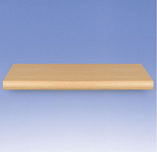 Count of 4 New Maple Plastic Bullnose Shelf 48 in. W x 13 in. D
