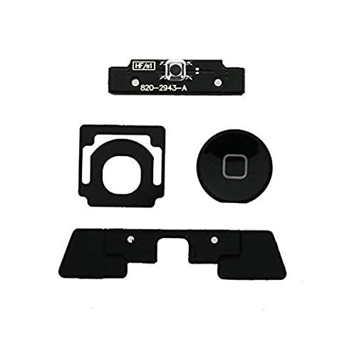 Generic 4 Piece Set Replacement Repair Part for Apple iPad 2, iPad 3 - Black (Ipad 3 Home Button Cable)