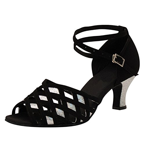 BYLE Sandalias de Cuero Tobillo Modern Jazz Samba Zapatos de Baile Zapatos de Baile Latino de Adultos de Verano Tira Zapatos Zapatos de Baile Latino Onecolor