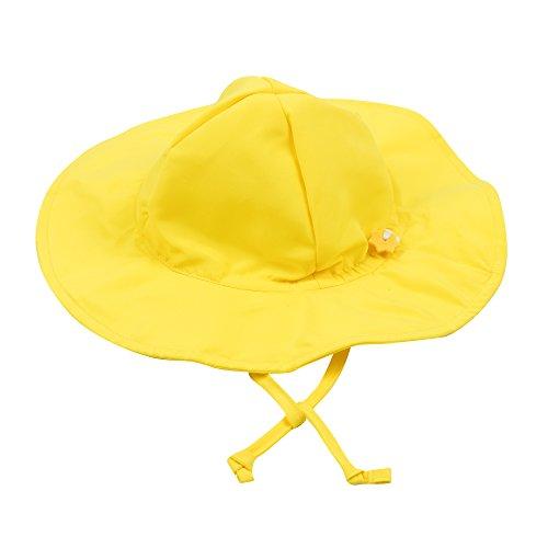 Leveret Kids Baby Boys Girls Sun Protection Swim Brim Hat Yellow Size 2-4 Toddler]()