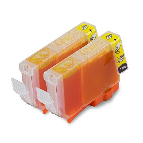 2PK Yellow - SOJIINK Canon Compatible CLI-8Y Ink Cartridge for PIXMA iP3300 iP4200 iP4300 iP4500 iP5200 iP5200R iP5300 iP6600D iP6700D iX4000 iX5000 MP500 MP510 MP530 MP600 MP600R MP800 MP800R MP810 (002 Premium Toner Cartridge)