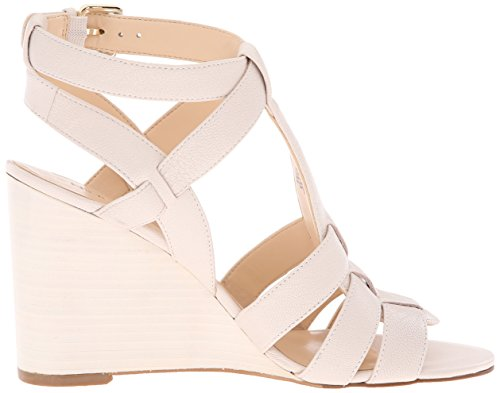 Farfalla Leather Nine Off Sandal White Wedge West Women nWW6vO